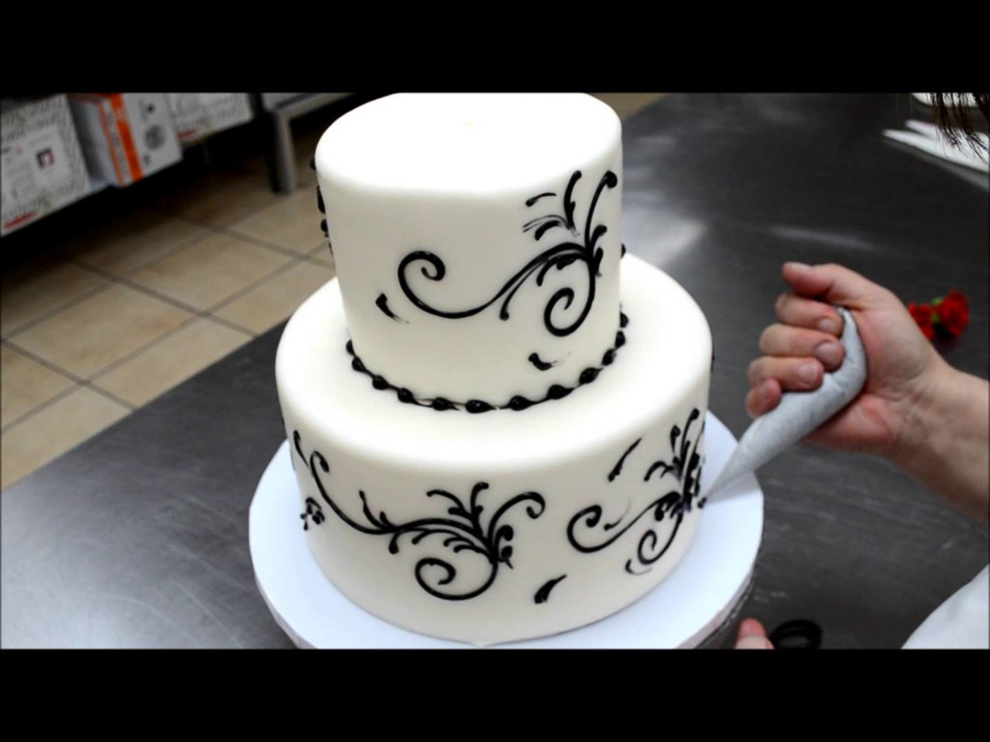 Easy To Make Wedding Cake - 5 Min Simple Beautiful Wedding Cake