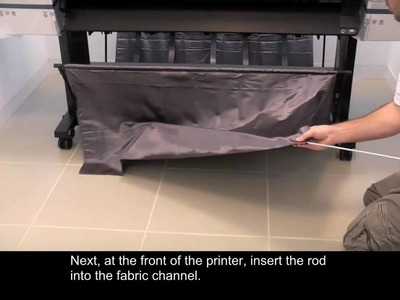 Epson 9900 Printer Setup - Paper Basket Assembly