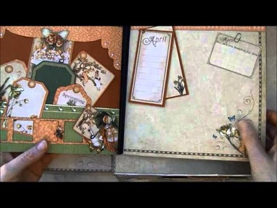 G45 place in time yearbook memory album and desk top box - tutorial