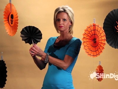 Halloween Decorations -  Paper Fans  - by Shindigz