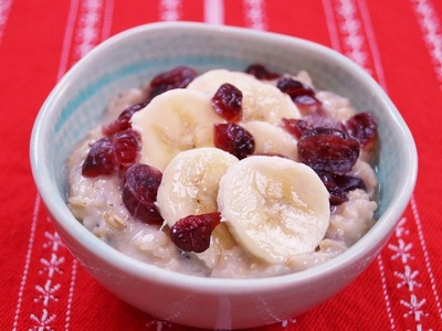 Healthy Oatmeal Breakfast Recipe: Banana Cranberry: Easy: How To: Diane Kometa-Dishin' With Di #37