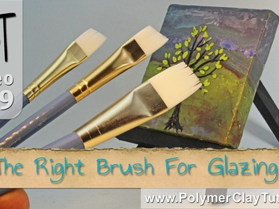 How To Choose The Right Brush for Glazing Polymer Clay