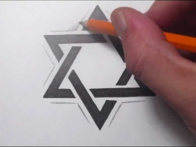 How To Draw a Star of David Tattoo Design
