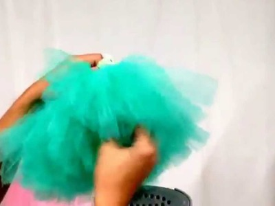 How to get wrinkles out of a tutu and make new again.