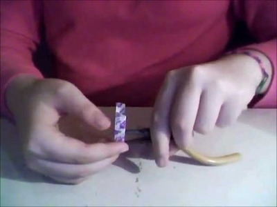 How to make a Dum Dum Wrapper Bracelet.
