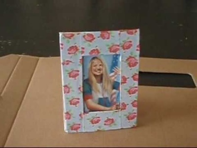 How to make an american girl doll size picture frame.