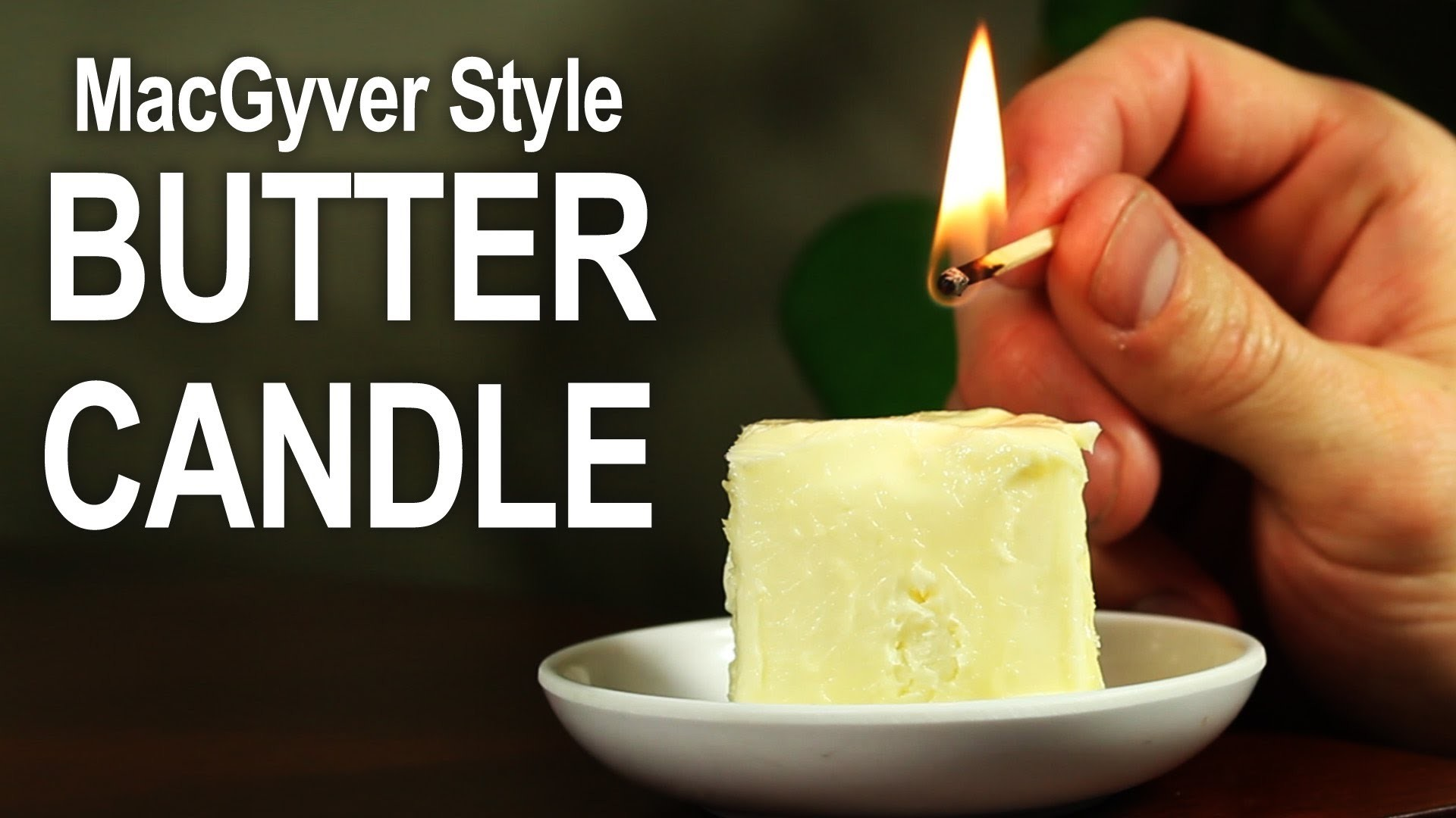 Make An Emergency Candle Out Of Butter!