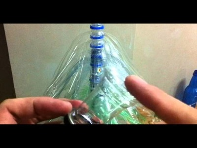 Making a Christmas Tree; Using plastic bottles