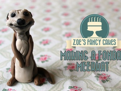 Making a fondant meerkat for cake decorating How To Tutorial Zoes Fancy Cakes