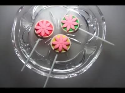 Making of a Flower Lollipops