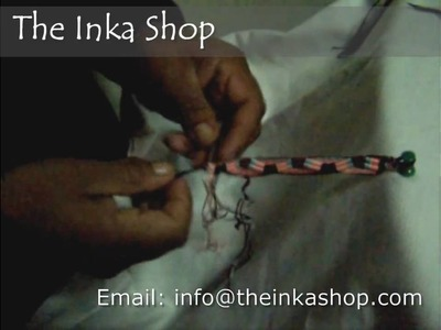 Making your beautiful hand woven bracelet