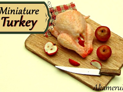 Miniature Uncooked Thanksgiving Turkey - Polymer Clay Tutorial