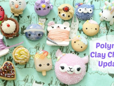 Polymer Clay Charm Update #32  || funkypinkgal