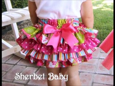 """""""Sassy Pants"""" Ruffle Diaper Covers & Bloomers in Patchwork & Polka Dots"""