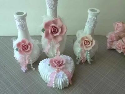 Shabby Chic Romance Rose Vases