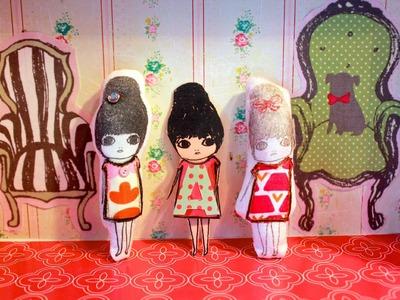 Stamped Fabric Dolls