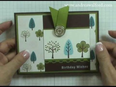 Stampin' Up! Tutorial: Trendy Trees Birthday Card