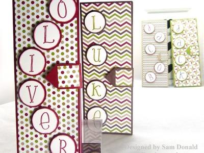 Stampin Up UK Seasons of Style Children's Notebooks