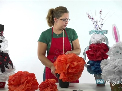 Tissue Paper Holiday Topiary