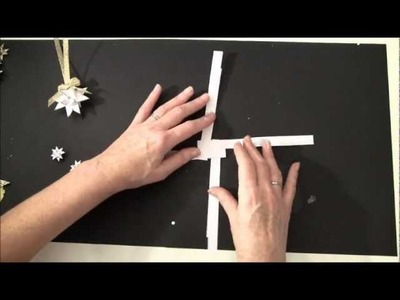 Tutorial how to make a Swedish paper star. Christmas tag and ornament