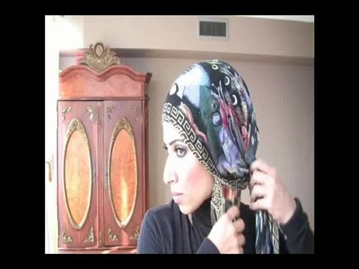 Wrap hijab style with earrings  #12
