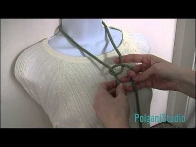 6 ways to tie and wear a lariat (long necklace) TUTORIAL - How to tie a bead crochet rope.