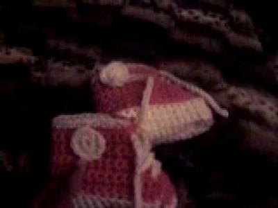 Baby Hightop Crochet Booties