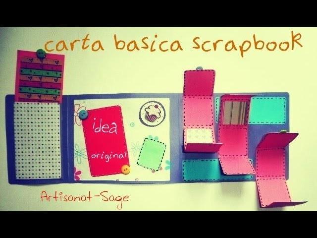 Carta Basica Scrapbook.Scrapbook Basic Card