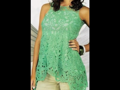 Crochet blouse - ganchillo blusa - crochê blusa