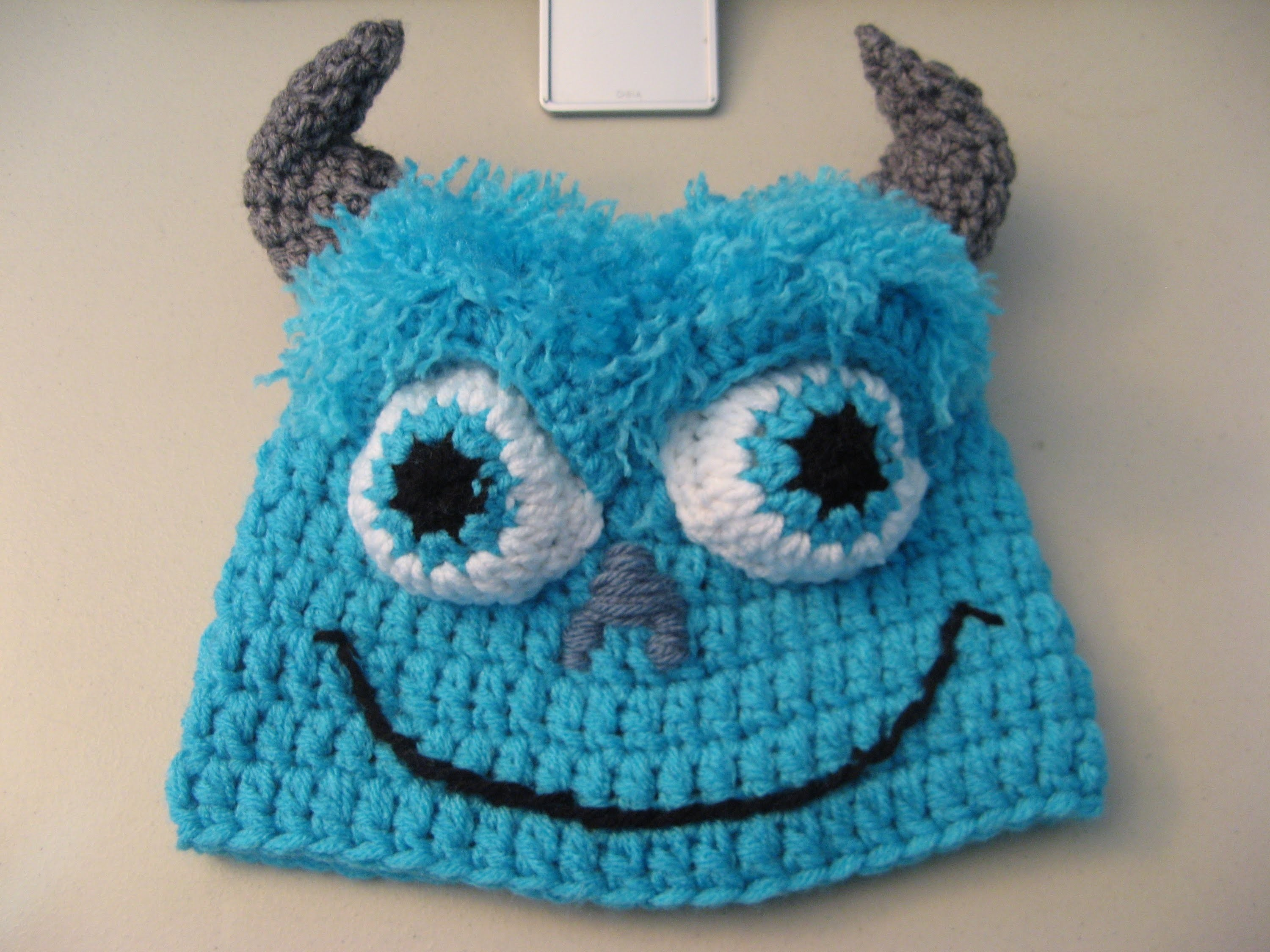 Crochet Blue Monster Beanie. Video One