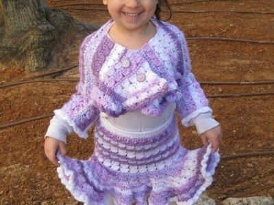 Crochet Ruffle Skirt - Left Handed tutorial