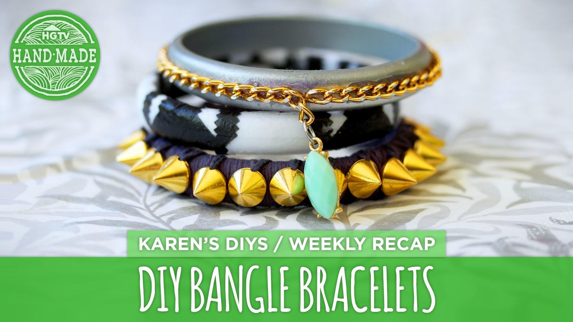 DIY Bangle Bracelets - HGTV Handmade