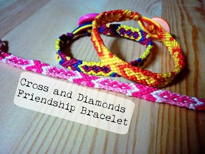 DIY Cross and Diamond Friendship Bracelet (Pattern #5282)  ¦ The Corner of Craft