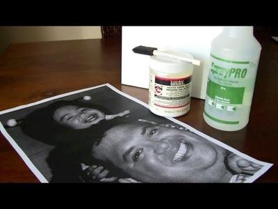 DIY: Distressed Canvas Portrait (Rachelle)