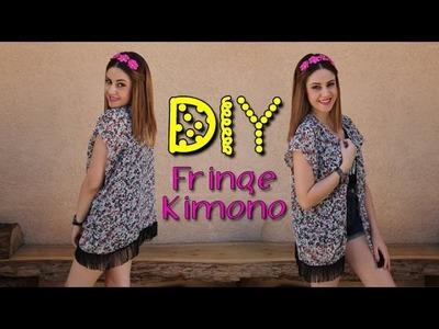 DIY Easy Fringe Kimono