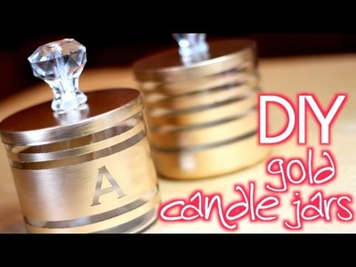 DIY Easy Gold Candle Jar Organizers