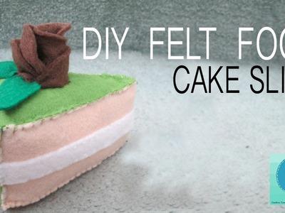 DIY Felt Food: Cake Slice