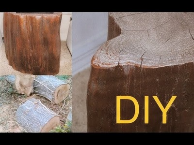 DIY How to make a TREE WOOD TABLE for free. TUTORIAL
