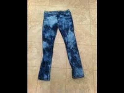 DIY: How to tie dye jeans