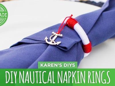 DIY Nautical Napkin Rings - HGTV Handmade