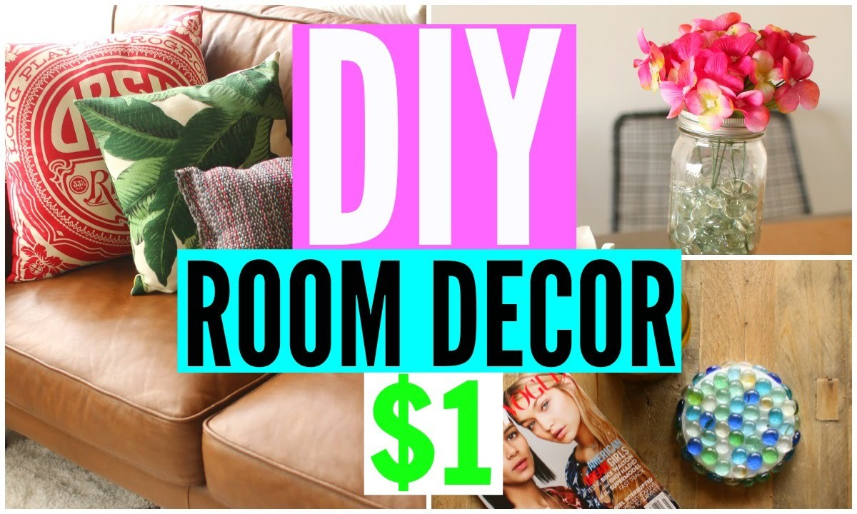 DIY Room Decor From The Dollar Store! CHEAP Room Decorations!