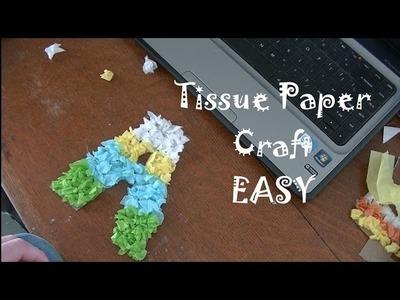 DIY Tissue Paper Craft EASY