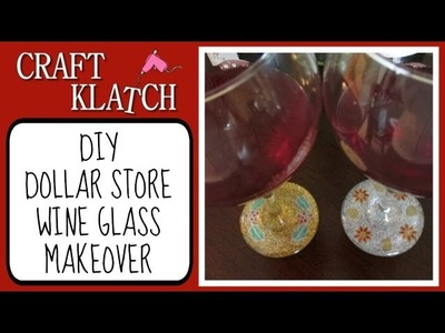 Dollar Store Wine Glass   Glitter and Resin Makeover Craft Klatch Christmas Series