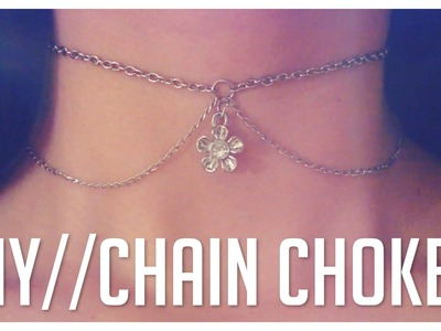 Easy DIY Chain Choker Necklace {Do It Yourself}
