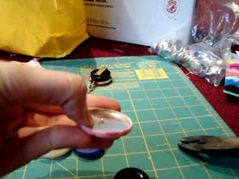 Fabric Button Badge Reel How To Tutorial