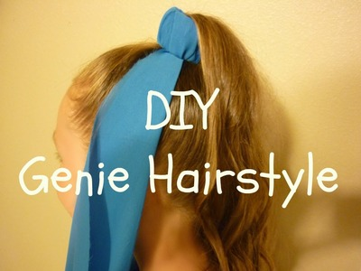 Genie Hairstyle & DIY Genie Costume Headpiece, Halloween Hairstyles