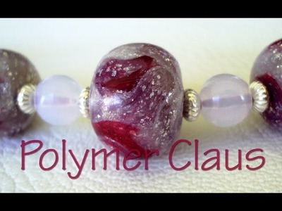 Glass effect beads (polymer clay tutorial - english sub)
