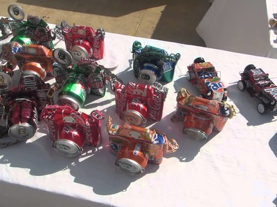 Handmade Craft from Aluminum Cans at the market in Cuba - recycling pop cans