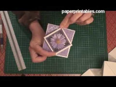 How to make a diamond pop up cracker card tutorial