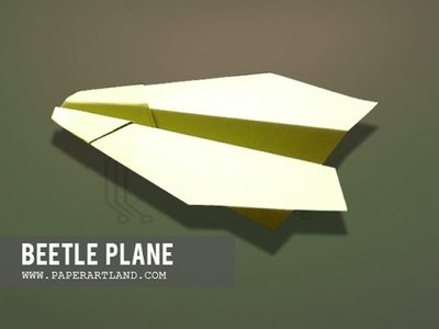 How to make an EASY Paper Plane that flies Far | Beetle ( Tri Dang )